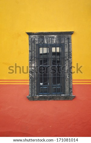 Mexican Window frame - old house - stock photo