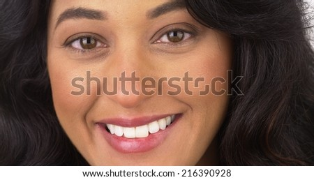 Mexican woman smiling
