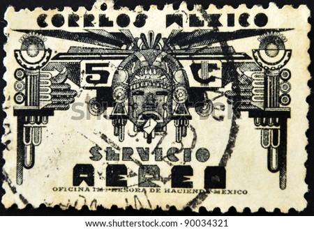 Mexico Circa 1950 Stamp Printed Mexico Stock Photo Royalty Free