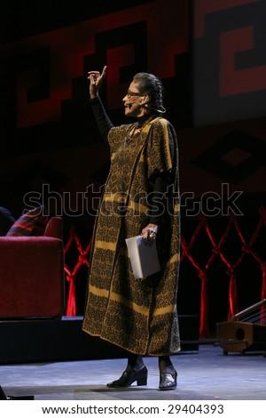 MEXICO CITY - APRIL 21 :  Actress Patricia Reyes Espindola attends the Chavela Vargas 90th Anniversary homage at the Teatro de La Ciudad de Mexico on April 21, 2009 in Mexico City, Mexico. - stock photo