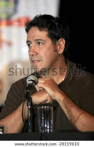 MEXICO CITY - APRIL 6: Kerigma rock band member Arturo attends Festival Music for the Earth Music Fest press conference and photo shoot at El Lunario Concert Hall April 6, 2009 in Mexico City, Mexico. - stock photo