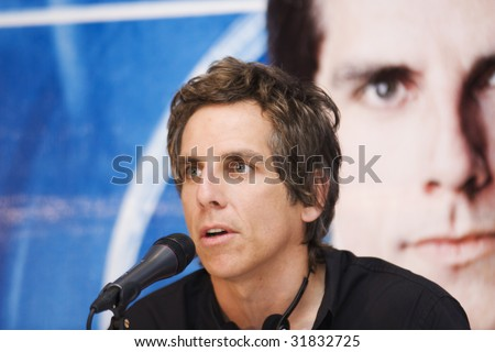 "MEXICO CITY-June 9 : Actor Ben Stiller attends the ""Night at the Museum 2: Battle of the Smithsonian"" Mexico City Photocall & Press conference at 4 Seasons Hotel at Mexico,City.,Mexico. June 9 2009 - stock photo"