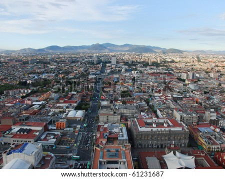 Mexico City, looking North - stock photo