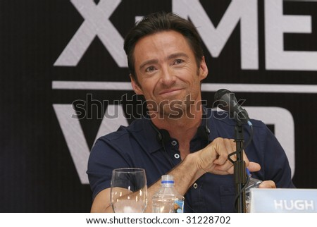 "MEXICO CITY-MAY 26 : Actor Hugh Jackman ""Logan/Wolverine"" attends the X-MEN ORIGINS: WOLVERINE PhotoCall & Press conference May 26, 2009 in Mexico City, Mexico."