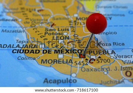 mexico city pinned on map capital of mexico