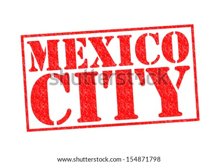 MEXICO CITY Rubber Stamp over a white background.