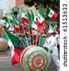 MEXICO CITY - SEPTEMBER 15: Bicentenario parade on avenue Reforma. September 15, 2010. Mexico city - stock photo