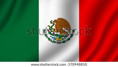 Mexico Flag - stock photo