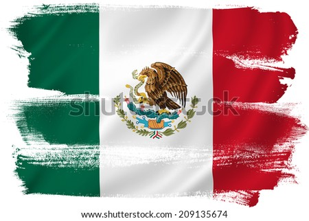 Mexico flag backdrop background texture. - stock photo