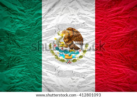 Mexico flag pattern overlay on floyd of candy shell, vintage border style