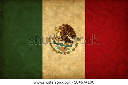 Mexico grunge flag - stock photo