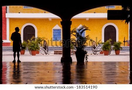 mexico house - stock photo