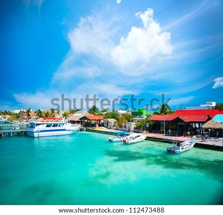 Mexico.Isla Mujeres,Cancun - stock photo