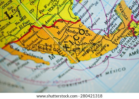Mexico map - stock photo