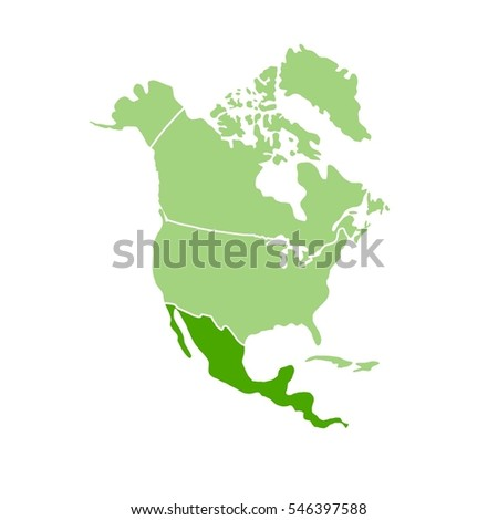 Mexico Map on a White Background