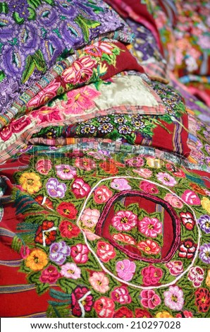 """Mexico, Merida - March 28th, 2014: """"Oaxaca in Merida"""" - Food and Handcrafts Event. Mexican traditional material handmade - stock photo"""