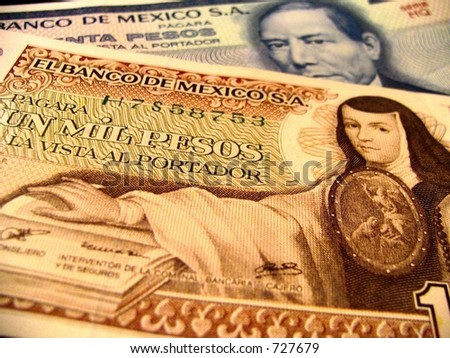mexico money - stock photo