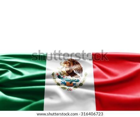 Mexico  of silk with copyspace for your text or images and white background
