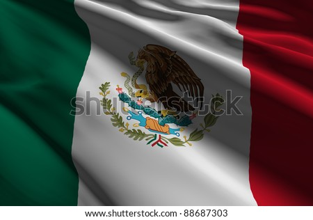 Mexico - World flags Collection - stock photo