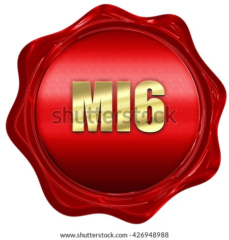 mi6 secret service, 3D rendering, a red wax seal - stock photo