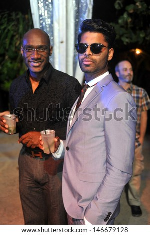 MIAMI BEACH, FL - JULY 18: Guests attend the Mercedes-Benz Fashion Week Swim 2014 Official Kick Off Party at the Raleigh Hotel on July 18, 2013 in Miami Beach, Florida - stock photo
