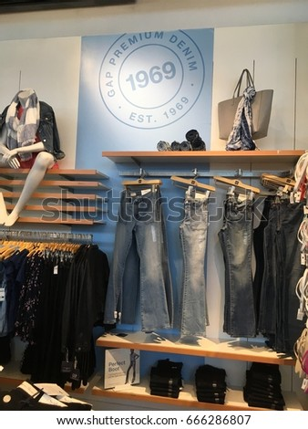 MIAMI BEACH, FLORIDA, JUNE 25, 2017: Gap Clothing Store