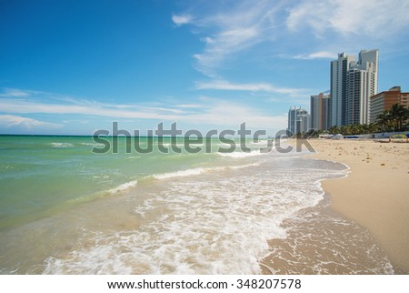 Miami beach, Florida. USA vacation destination - stock photo