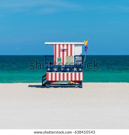 Miami Beach Hut Transparent Background