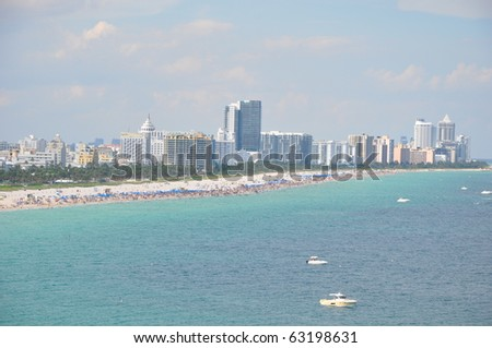 Miami Beach in Florida - stock photo