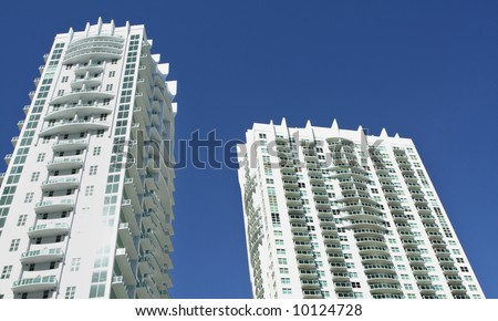 Miami Buildings and Blue Sky