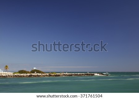 Miami coastline stock image - stock photo