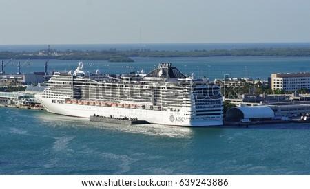 Miami Fl May Msc Stock Photo Shutterstock - Msc divina cruise ship