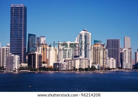 Miami, Florida, USA - seen in the morning - stock photo