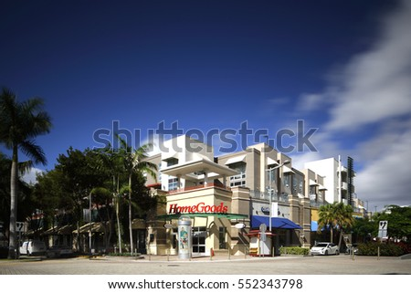 MIAMI - JANUARY 9: Image of the Marshall's Home Goods department store located at The Shops at Midtown 3401 N Miami Ave January 9, 2017 in Miami FL, USA