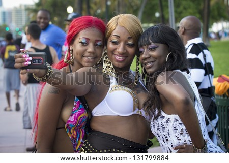 Miami Beach Urban Weekend Stock Images Royalty Free