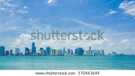 Miami skyline at daytime - stock photo