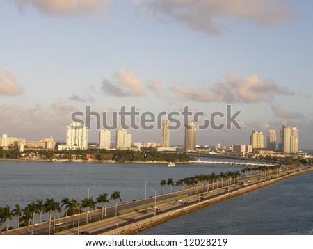 Miami Skyline in Florida - stock photo