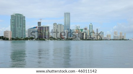 Miami Skyline Reflection