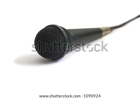 Mic on white background