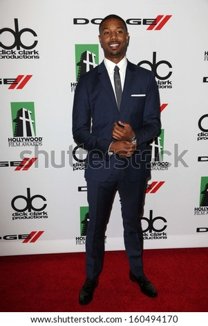 Michael B. Jordan at the 17th Annual Hollywood Film Awards Arrivals, Beverly Hilton Hotel, Beverly Hills, CA 10-21-13