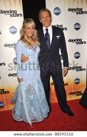 Michael Bolton & Chelsie Hightower at the Season 11 premiere of ABC's Dancing With The Stars at CBS Television City, Los Angeles. September 20, 2010  Los Angeles, CA Picture: Paul Smith / Featureflash - stock photo