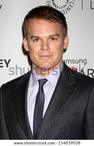 "Michael C. Hall at the PaleyFest Fall Previews:  Fall Farwell - ""Dexter,"" Paley Center for Media, Beverly Hills, CA 09-12-13 - stock photo"