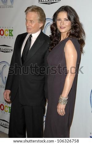Michael Douglas and Catherine Zeta-Jones at the 20th Annual Producers Guild Awards. Hollywood Palladium, Hollywood, CA. 01-24-09 - stock photo