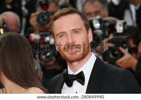 Michael Fassbender  attends the 'Macbeth' Premiere during the 68th annual Cannes Film Festival on May 23, 2015 in Cannes, France. - stock photo