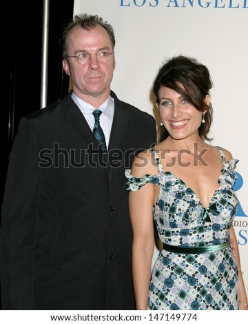 Michael O'Keefe and Lisa Edelstein at the Museum of TV & Radio Gala Beverly Hilton Hotel Beverly Hills , CA November 7, 2005