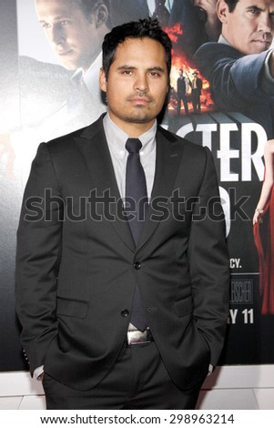 Michael Pena at the Los Angeles premiere of 'Gangster Squad' held at the Grauman's Chinese Theatre in Hollywood on January 7, 2013.   - stock photo
