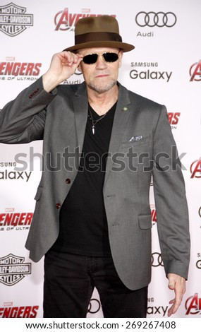 Michael Rooker at the World premiere of Marvel's 'Avengers: Age Of Ultron' held at the Dolby Theatre in Hollywood, USA on April 13, 2015.