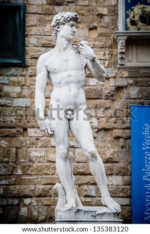 Michelangelo David statue - stock photo
