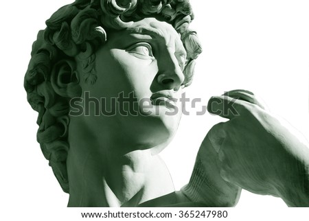 Michelangelo's David statue,Florence,Italy - stock photo