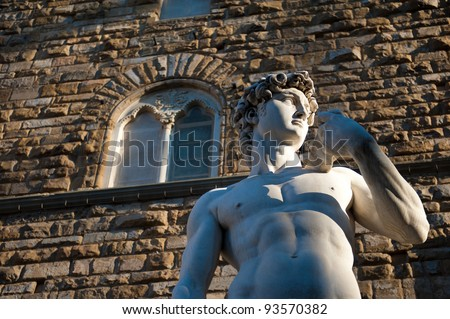 Michelangelo's David statue in Florence, Italy - stock photo